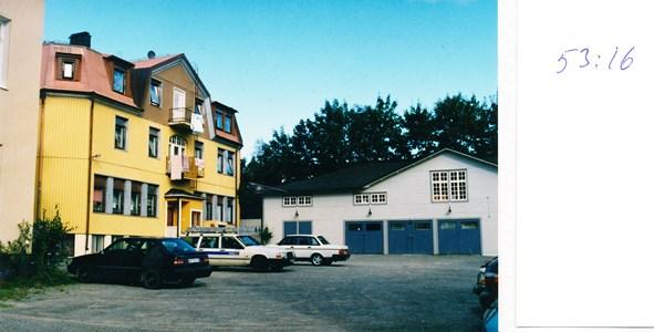 53.16 Kv Irland   Viktoriaesplanaden 14 Bakgård och uthus med Garage