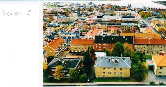 30a.02 Vy från kyrktornet mot Storgatan