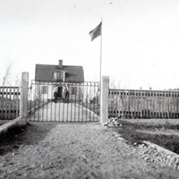 Hus vid Nora Strand