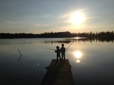 Linnegårdssjön, Albin och Oskar