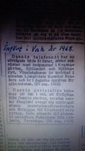 1918 telefon o postnotis