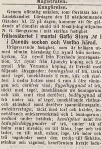 Gavlö Säteri auktion del1