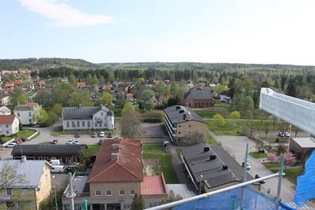 Vy över Jannelund och Kanada från kyrktornet