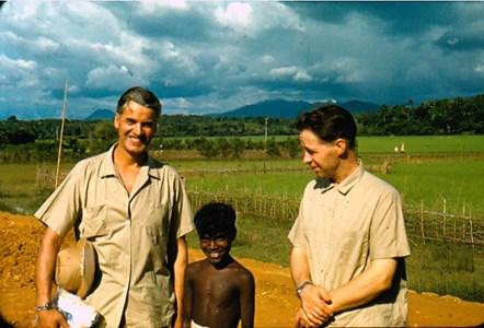 Roland Wedin och Einar Gustavsson i Kerala Indien