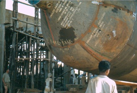 Degerfors Järnverks montageplats i Kerala Indien