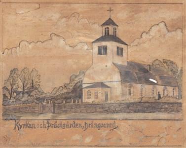 Teckning på Drängsereds kyrka