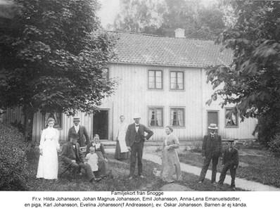 Familjebild vid Snogge