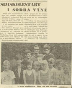 Simskolestart i Södra Väne