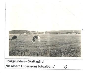 Vy över Skattagård. 2-1609