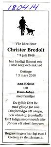 180414 Dödsannons Christer Bredolt