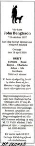 180428 Dödsannons John Bengtsson