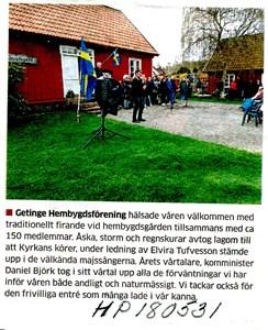 180531 Hembygdsföreningens Valborgsfirande
