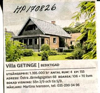 170826 Hus till salu
