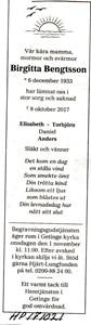 171021 Dödsannons Birgitta Bengtsson