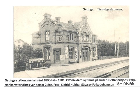 Getinge station.sent 1800-tal. 2-1636