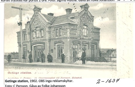 Getinge station 1902. 2-1637