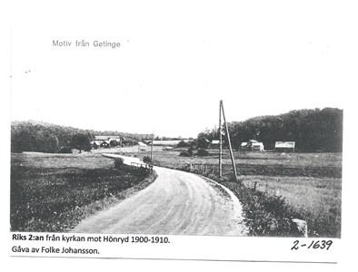 Riks 2:an från kyrkan mot Hönryd. 2-1639