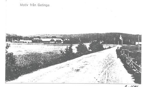 Vägen mellan Getinge tätort och Skattagård. 2-1641