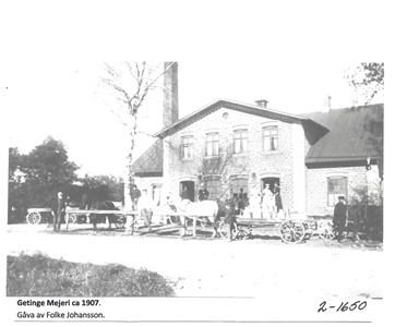 Getinge Mejeri ca 1907. 2-1650