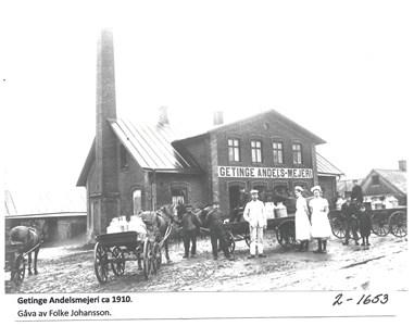 Getinge Andelsmejeri ca 1910. 2-1653