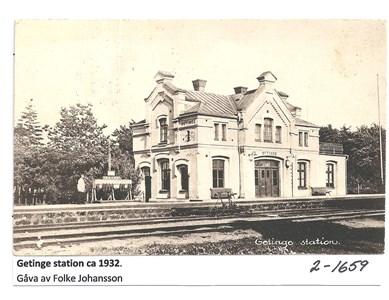 Getinge station ca 1932  2-1659