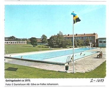 Getinge friluftsbad ca 1975. 2-1693