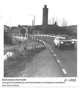 Gamla stenbron över Suseån. 2-1703