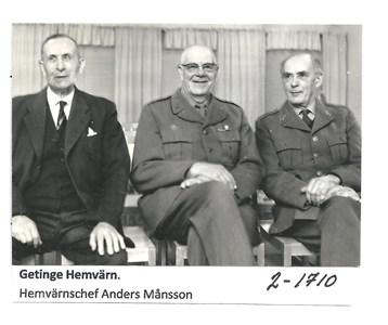 Hemvärnschef Anders Månsson samt 2 hemvärnsmän från Halmstad