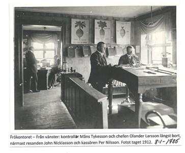 Kontorsmiljö på Frökontoret 1912. 8-1-1785