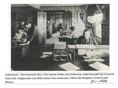 Frökontoret - yttre kontoret 1912. 8-1-1786