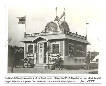 Hallands Frökontors paviljong på Lantbruksmötet i Halmstad 1912. 8-1-1788