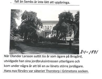 Thorstorps säteri. 8-1-1791