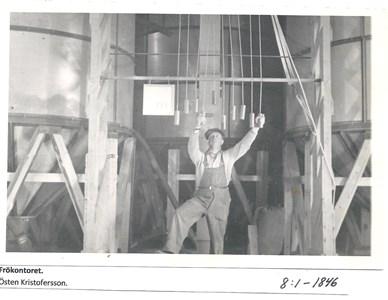 Frökontoret. Byte av silos.  8-1-1846