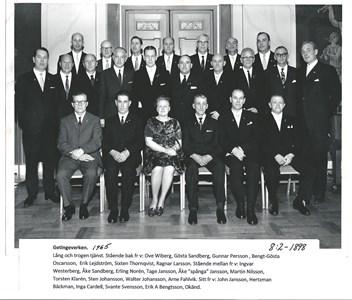 Getingeverken 1965. Belöning för lång och trogen tjänst. 8-2-1898