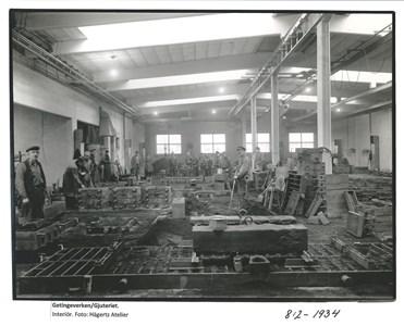Getingeverkens Gjuteri. Interiör. 8-2-1934