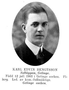 Karl EDVIN Bengtsson