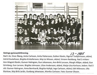Getinge gymnastikförening. 13-1985