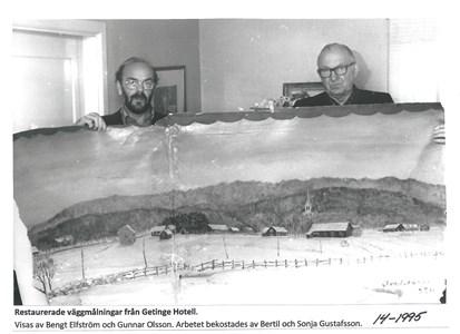 Väggmålning från Getinge Hotell 14-1995