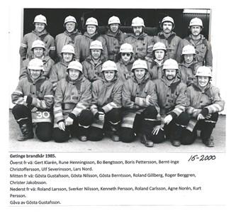 Getinge Brandkår 1985 15-2000