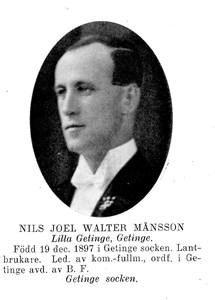 Nils JOEL Walter Månsson