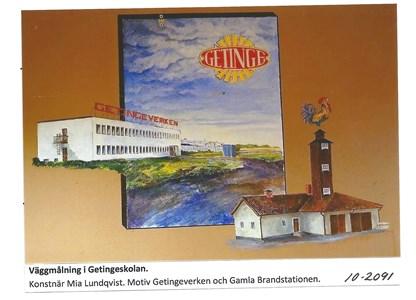 Väggmålning i Getingeskolan 10-2091