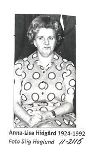 Anna-Lisa Hidgård 11-2115
