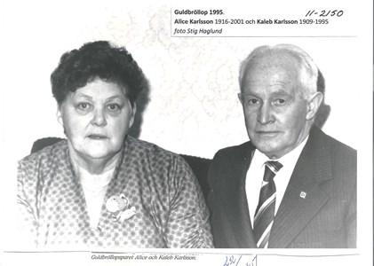 Alice och Kaleb Karlsson guldbröllop 1995 11-2150