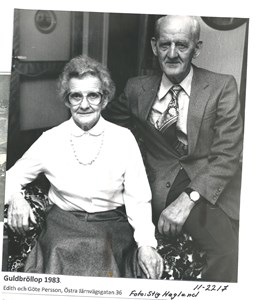 Guldbröllop 1983  Edith o Göte Persson 11-2217