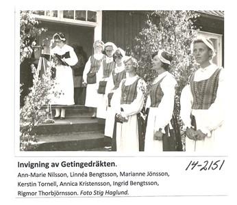 Invigning av Getingedräkten 14-2151