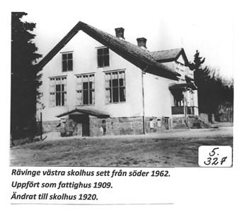 Rävinge västra skolhus. 5-327