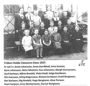 Skolklass 1927. 5-672