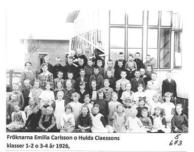 Skolklass 1/2 och 3/4 1926. 5-673