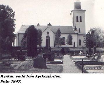 Gnosjö kyrka. Gnosjö nya sedd från kyrkogården s 16.jpg