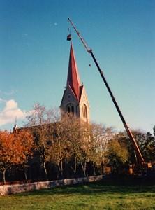 Gödestads kyrka, Ny beklädnad kyrktornet